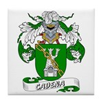 Cadena Family Crest Tile Coaster