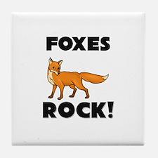 Foxes Rock! Tile Coaster