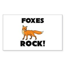 Foxes Rock! Rectangle Decal