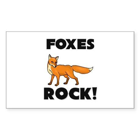 Foxes Rock! Rectangle Sticker