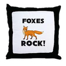 Foxes Rock! Throw Pillow