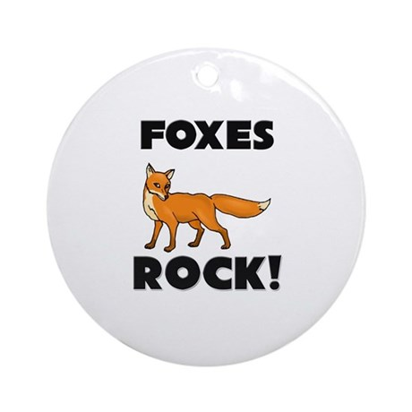 Foxes Rock! Ornament (Round)