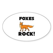 Foxes Rock! Oval Decal