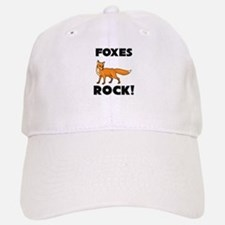 Foxes Rock! Baseball Baseball Cap