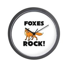 Foxes Rock! Wall Clock