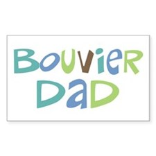 Bouvier Dad (Text) Rectangle Decal