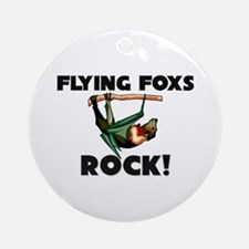 Flying Foxs Rock! Ornament (Round)