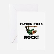 Flying Foxs Rock! Greeting Cards (Pk of 10)