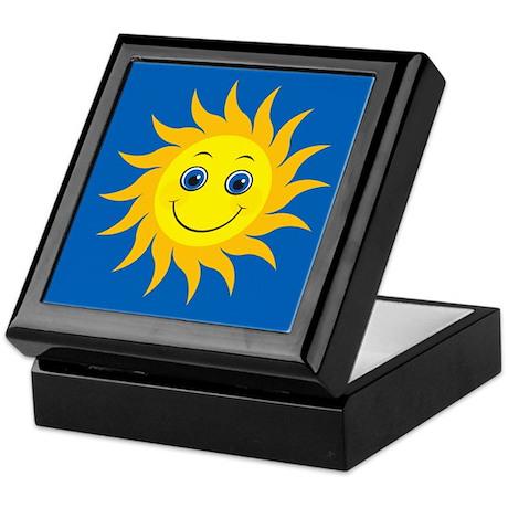 Smiling Mr. Sun Keepsake Box