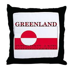 Greenland Greenlander Flag Throw Pillow