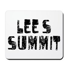 Lee's Summit Faded (Black) Mousepad