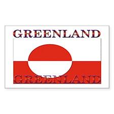 Greenland Greenlander Flag Rectangle Sticker 10 p