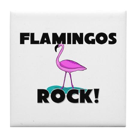Flamingos Rock! Tile Coaster