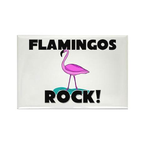 Flamingos Rock! Rectangle Magnet