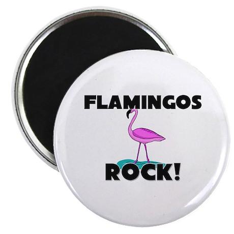 Flamingos Rock! Magnet