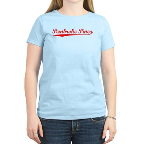 Vintage Pembroke P.. (Red) Women's Light T-Shirt