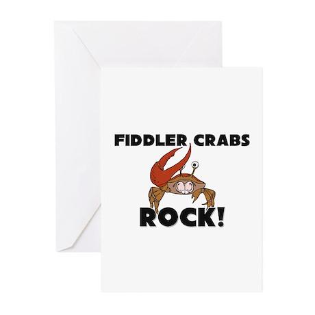 Fiddler Crabs Rock! Greeting Cards (Pk of 10)