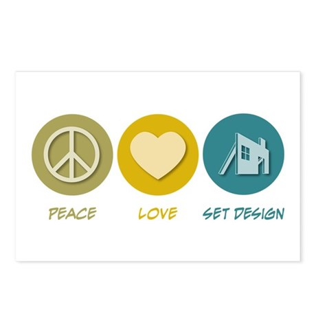 Peace Love Set Design Postcards (Package of 8)
