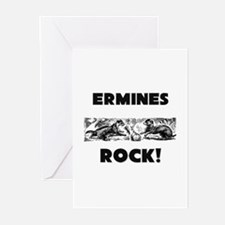 Ermines Rock! Greeting Cards (Pk of 10)