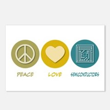 Peace Love Semiconductors Postcards (Package of 8)