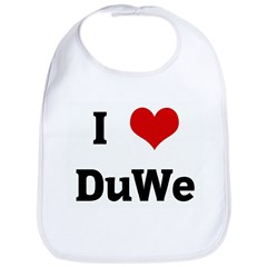 I Love DuWe Bib