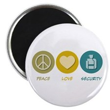 Peace Love Security Magnet