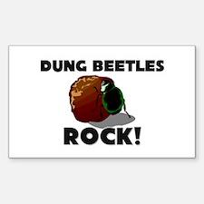 Dung Beetles Rock! Rectangle Decal