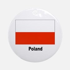 Poland Polish Flag Keepsake (Round)