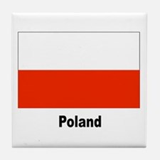 Poland Polish Flag Tile Coaster