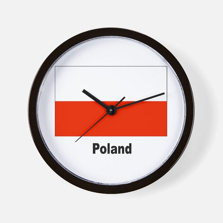 Poland Polish Flag Wall Clock