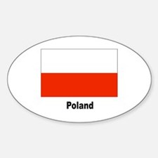 Poland Polish Flag Oval Decal