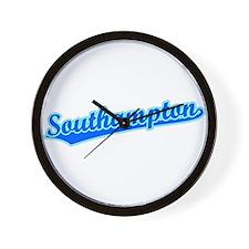 Retro Southampton (Blue) Wall Clock