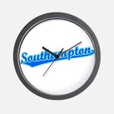 Retro Southampton (Blue) Wall Clock