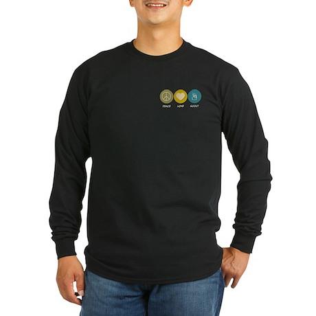 Peace Love Scout Long Sleeve Dark T-Shirt
