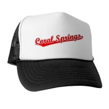 Retro Coral Springs (Red) Trucker Hat