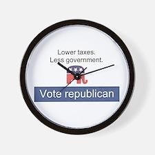 Vote Republican Wall Clock