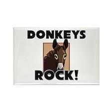 Donkeys Rock! Rectangle Magnet