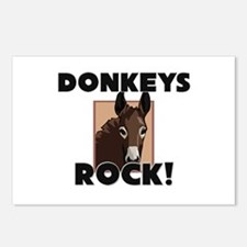 Donkeys Rock! Postcards (Package of 8)