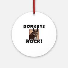Donkeys Rock! Ornament (Round)