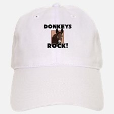 Donkeys Rock! Baseball Baseball Cap