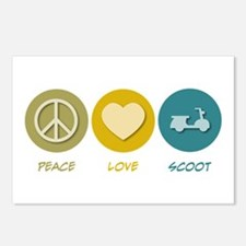 Peace Love Scoot Postcards (Package of 8)
