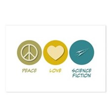Peace Love Science Fiction Postcards (Package of 8