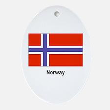 Norway Flag Keepsake (Oval)