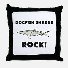 Dogfish Sharks Rock! Throw Pillow
