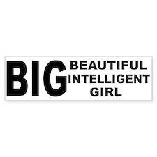 Beautiful Intelligent Girl Bumper Bumper Sticker
