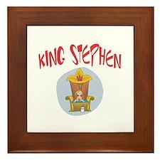 King Stephen Framed Tile