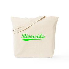 Vintage Riverside (Green) Tote Bag