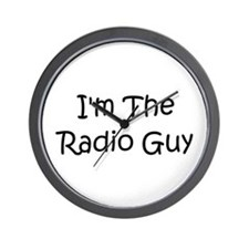 I'm The Radio Guy Wall Clock