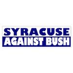 Syracuse Against Bush bumper sticker