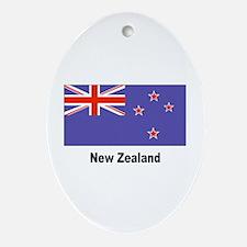 New Zealand Flag Keepsake (Oval)